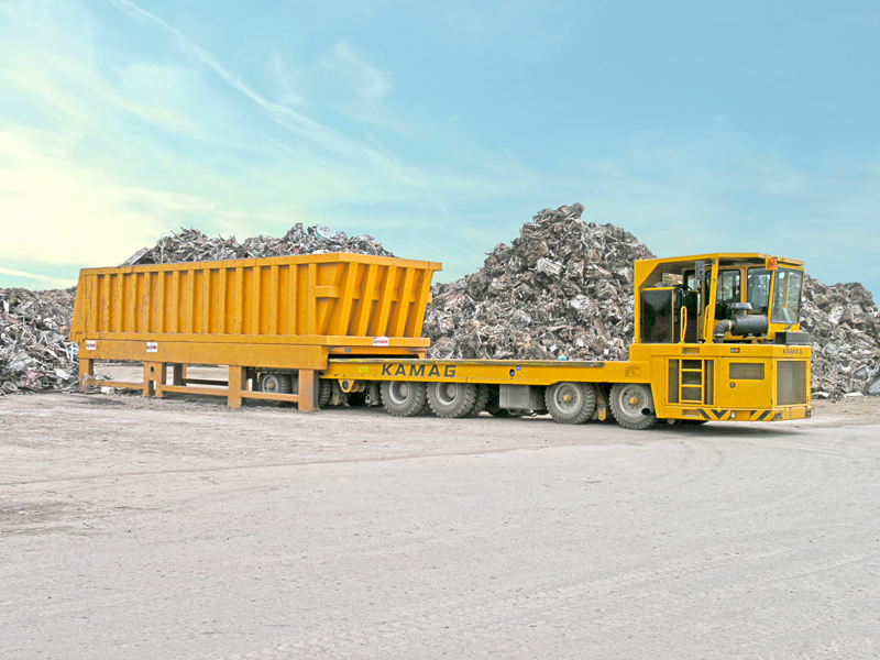 Scrap basket transporters from the TII Group drastically reduce turnaround times.
